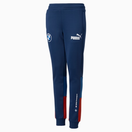 Pantalones de entrenamiento BMW M Motorsport SDS para niños, Marina-Blueprint-High Risk Red, pequeño