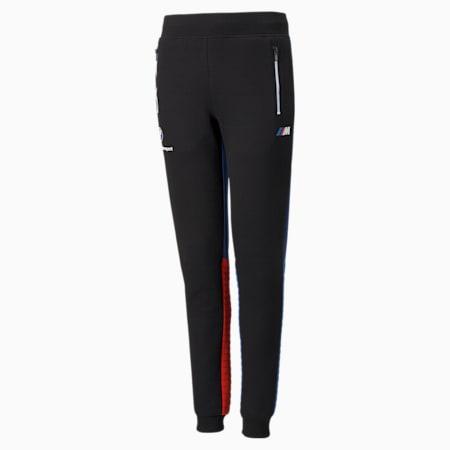 BMW M Motorsport Youth Sweatpants, Puma Black-Marina-Blueprint-High Risk Red, small-SEA