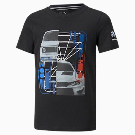 BMW M Motorsport Car Graphic Youth Tee, Puma Black, small-SEA