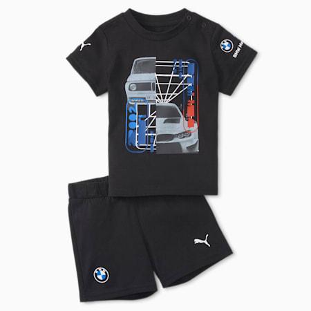 Conjunto BMW M Motorsport para infantes y bebés, Puma Black, pequeño