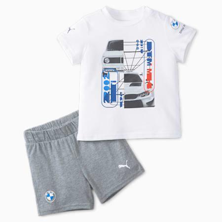 Ensemble de tenue de course BMW M Motorsport, bébés et tout-petits, Blanc Puma, petit