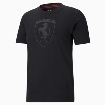 Scuderia Ferrari Race Big Shield Tonal Men's Tee, Puma Black, small