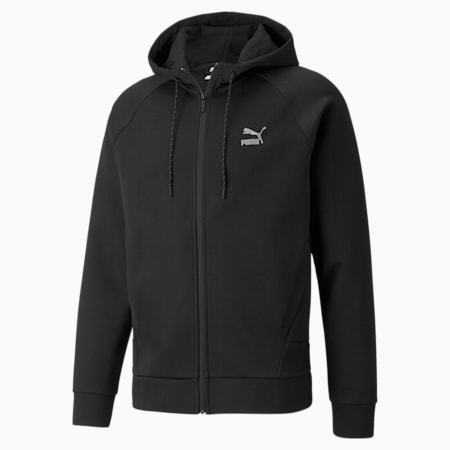 Classics Tech Full-Zip Men's Hoodie, Puma Black, small