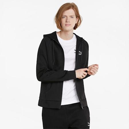 Classics Tech Full-Zip Men's Hoodie, Puma Black, small-GBR