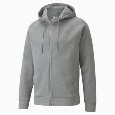 Classics Tech Full-Zip Men's Hoodie, Medium Gray Heather, small-GBR
