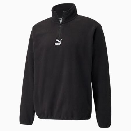 Classics Polar Fleece Half-Zip Men's Jacket, Puma Black, small-GBR