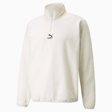 Classics Polar Fleece Half-Zip Men's Jacket, Ivory Glow, small