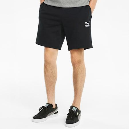 Classics Logo French Terry Men's Shorts, Puma Black, small-GBR