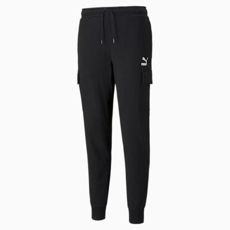 Pantalones cargo de felpa CLSX para hombre, Puma Black, pequeño