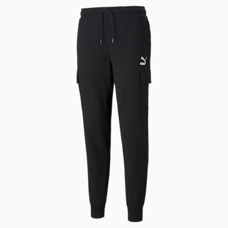 CLSX French Terry Men's Cargo Pants, Puma Black, small-SEA