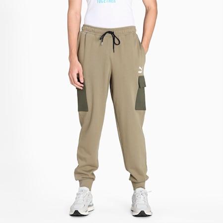 CLSX Cargo Regular Fit Men's Pants, Covert Green, small-IND