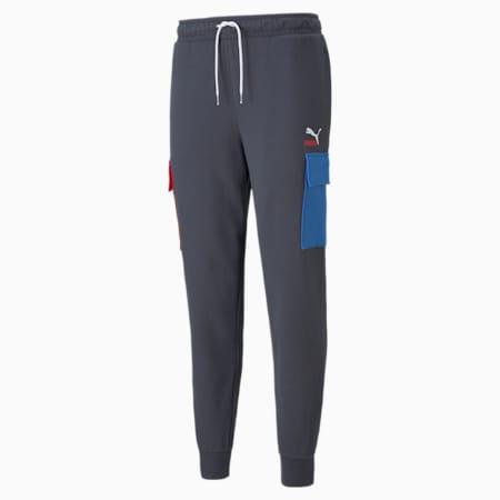 Pantalones cargo de felpa CLSX para hombre, Ébano, pequeño
