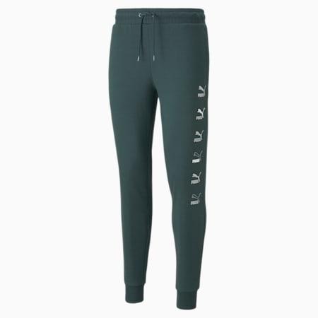 Pantalones de felpa CG Placement para hombre, Green Gables-Silver, pequeño