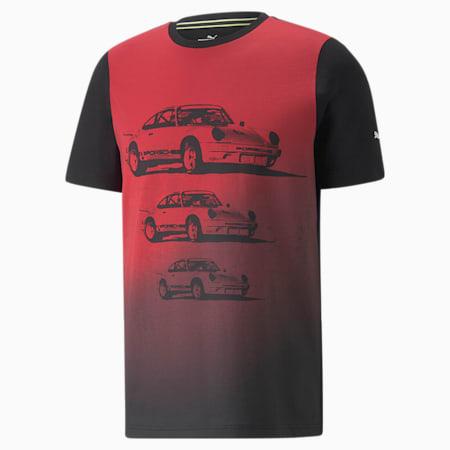 Porsche Legacy Herren T-Shirt mit FTL Grafik, Puma Black, small
