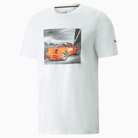Porsche Legacy FTL Graphic Men's Tee, Puma White, small-GBR