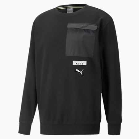 Porsche Legacy FTL Herren Sweatshirt mit Rundhalsausschnitt, Puma Black, small