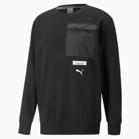 Porsche Legacy FTL Men's Crew Neck Sweater, Puma Black, small-GBR