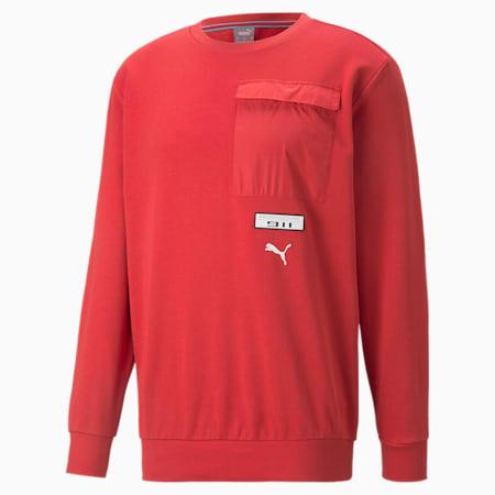 Porsche Legacy FTL Men's Crew Neck Sweater, American Beauty, small-GBR