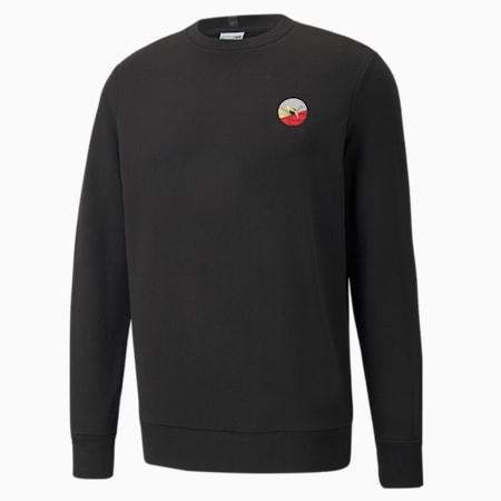 AS Crew Neck Men's Sweatshirt, Puma Black, small-GBR