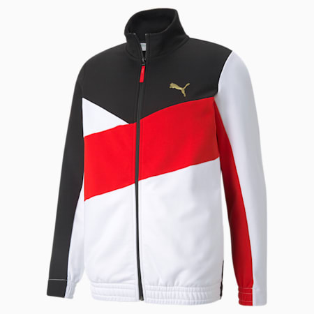 AS French Terry Men's Track Top, Puma Black, small-GBR