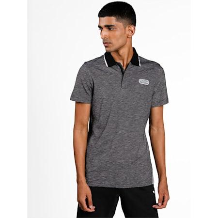 one8 Virat Kohli Men's  Jacquard Knit Slim Polo, Puma Black, small-IND