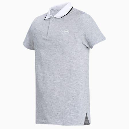 one8 Virat Kohli Men's  Jacquard Knit Slim Polo, Puma White Heather, small-IND