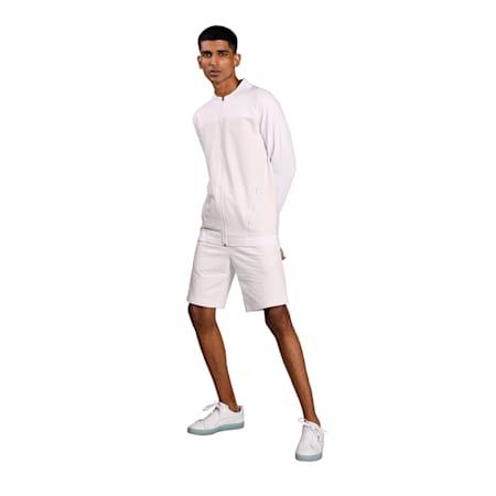 one8 Virat Kohli Men's Sweat Slim Shorts, Puma White Heather, small-IND