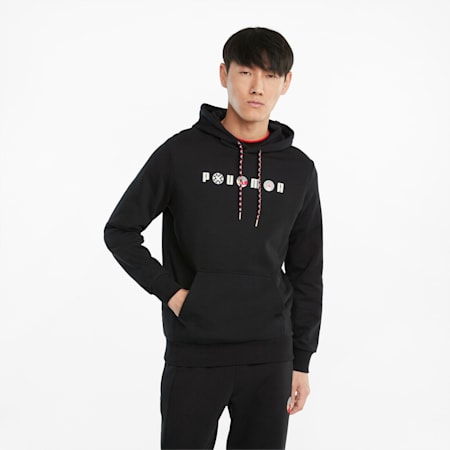 AS Graphic French Terry Men's Hoodie, Puma Black, small-GBR