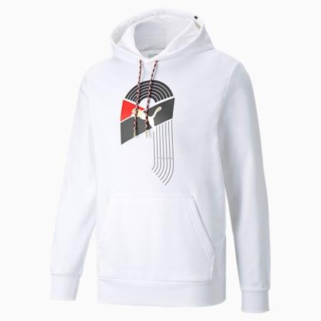 Kangourou graphique AS en tissu bouclette, homme, Blanc Puma, petit