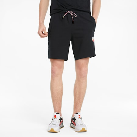 AS French Terry 숏 팬츠/AS Shorts TR, Puma Black, small-KOR