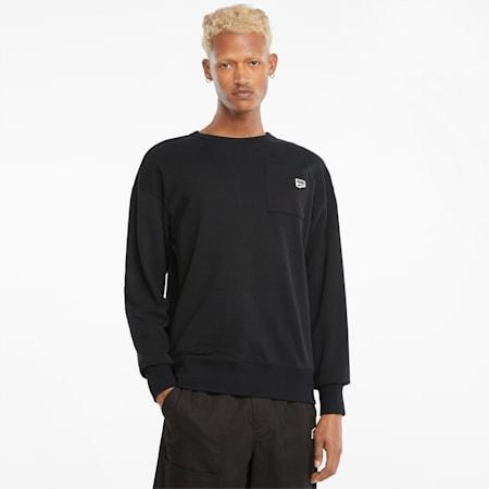 Downtown Herren Sweatshirt mit Rundhalsausschnitt, Puma Black, small