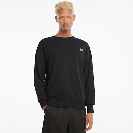 Sweat à col rond Downtown homme, Puma Black, small