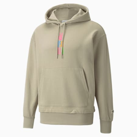 Downtown Graphic French Terry Men's Hoodie, Spray Green, small-GBR