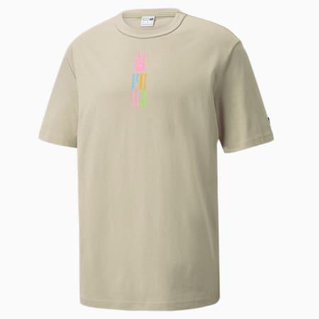 Camiseta estampada Downtown para hombre, Spray Green, pequeño