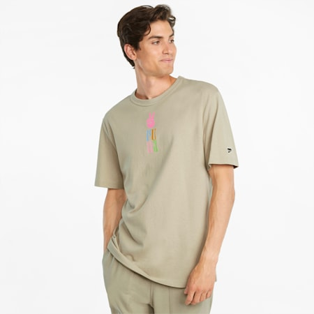Downtown Graphic T-shirt heren, Spray Green, small