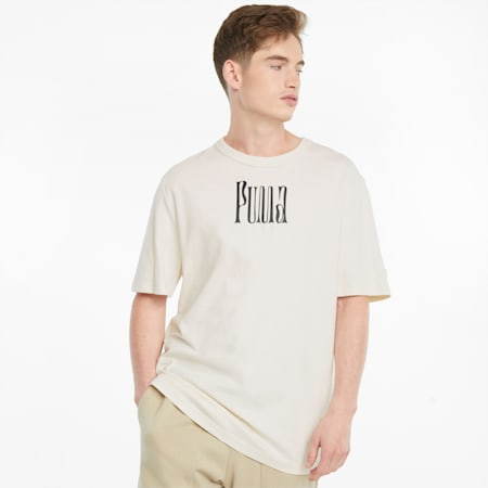 Downtown Graphic T-shirt heren, Ivory Glow, small
