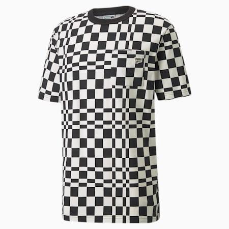 T-shirt imprimé à damier Downtown homme, Puma Black, small