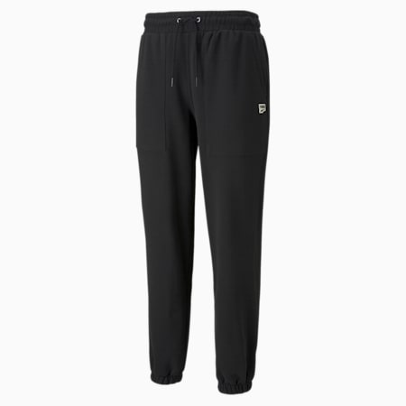 Downtown French Terry Men's Sweatpants, Puma Black, small-GBR