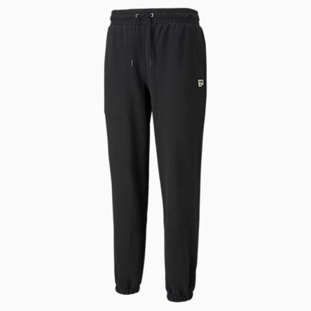 Pantalones deportivos de felpa Downtown para hombre, Puma Black, pequeño