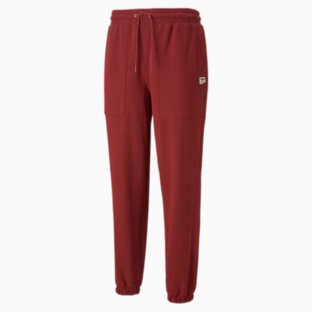Downtown French Terry Men's Sweatpants, Intense Red, small-GBR