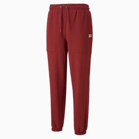 Pantalones deportivos de felpa Downtown para hombre, Intense Red, pequeño