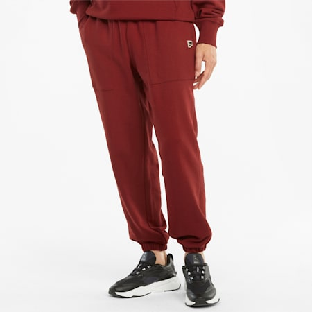 Downtown French Terry Herren Sweatpants, Intense Red, small