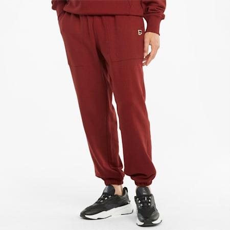 Pantalon de survêtement en French terry Downtown homme, Intense Red, small