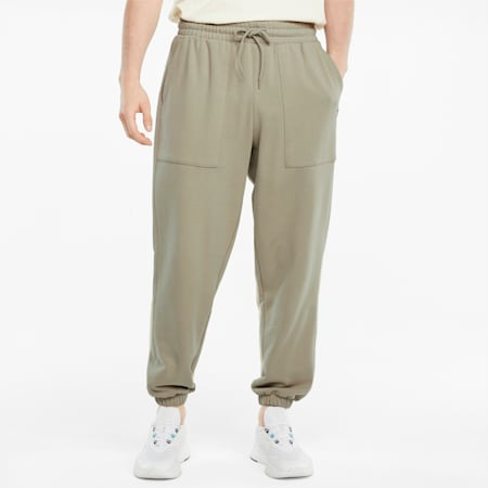 Downtown French Terry Herren Sweatpants, Spray Green, small