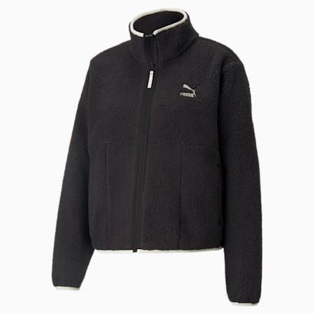 CLSX Sherpa Women's Track Jacket, Puma Black, small