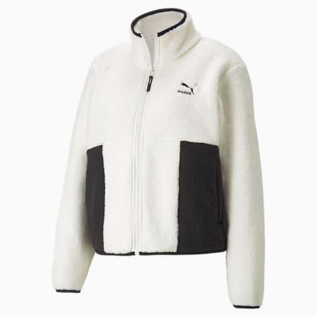 CLSX Sherpa Women's Track Jacket, Ivory Glow, small