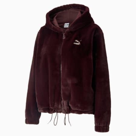 클래식 Fur Full-Zip 후드 티/Classics Fur Full-Zip Hoodie, Fudge, small-KOR