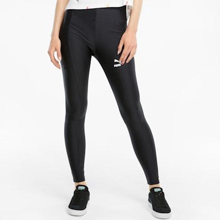 Classics Shiny High Tight Fit Women's Tights, Puma Black, small-IND