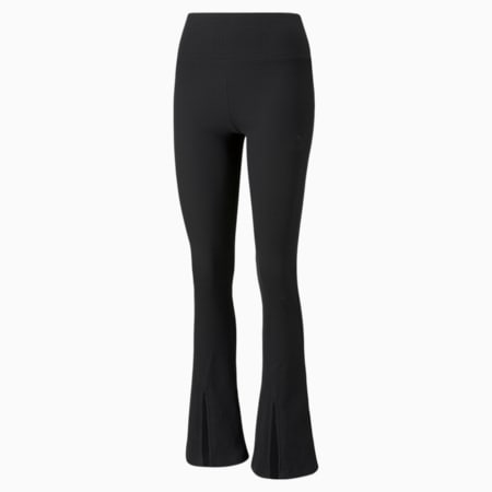 Classics Ribbed Women's Slit Pants, Puma Black, small-GBR