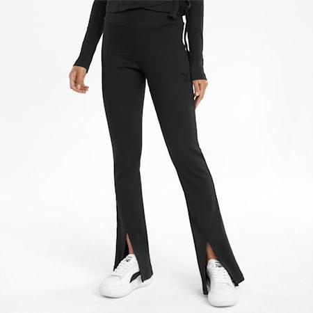Classics Ribbed Women's Slit Pants, Puma Black, small